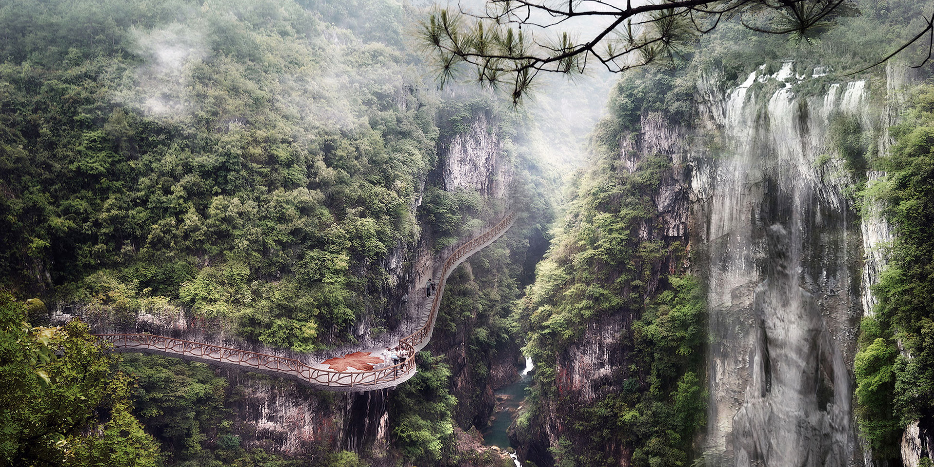 Huahuan Ancient Miaohe River Canyon Tourism Scenic Spot Design